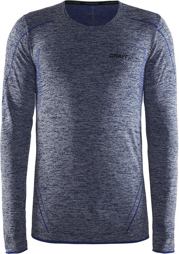 Термобелье кофта мужская Craft Active Comfort, цвет: синий меланж. 1903716/В392. Размер XL (52) - Одежда