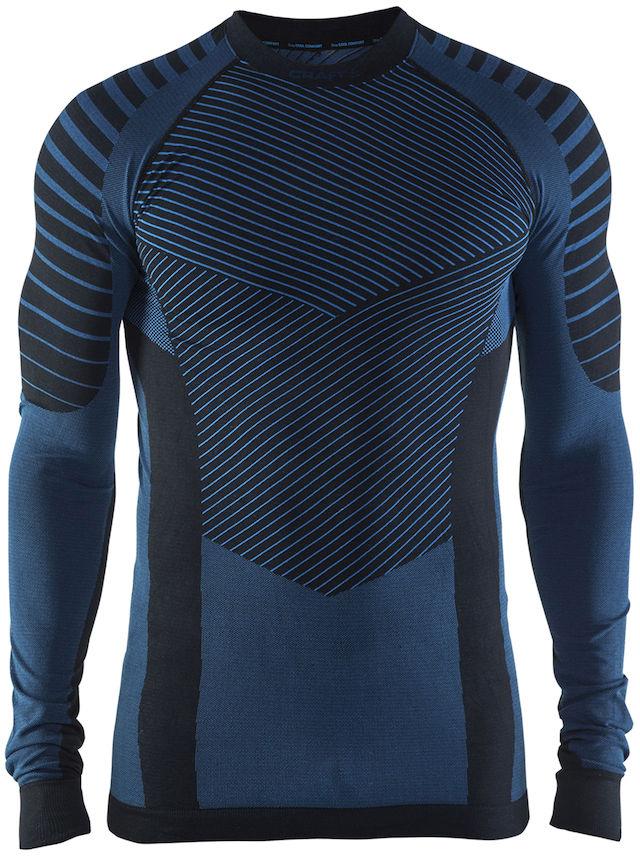 Термобелье кофта мужская Craft Active Intensity, цвет: темно-синий. 1905337/999336. Размер XXL (54)1905337/999336Мягкая и эластичная, легкая, но согревающая ткань термобелья сохранит ваше тело в тепле, сухости и комфорте. Прекрасная терморегуляция. Плоские швы следуют за движениями тела. Различные зоны плотности материала с учетом картографии тела. Бесшовный дизайн для оптимальный свободы движений.