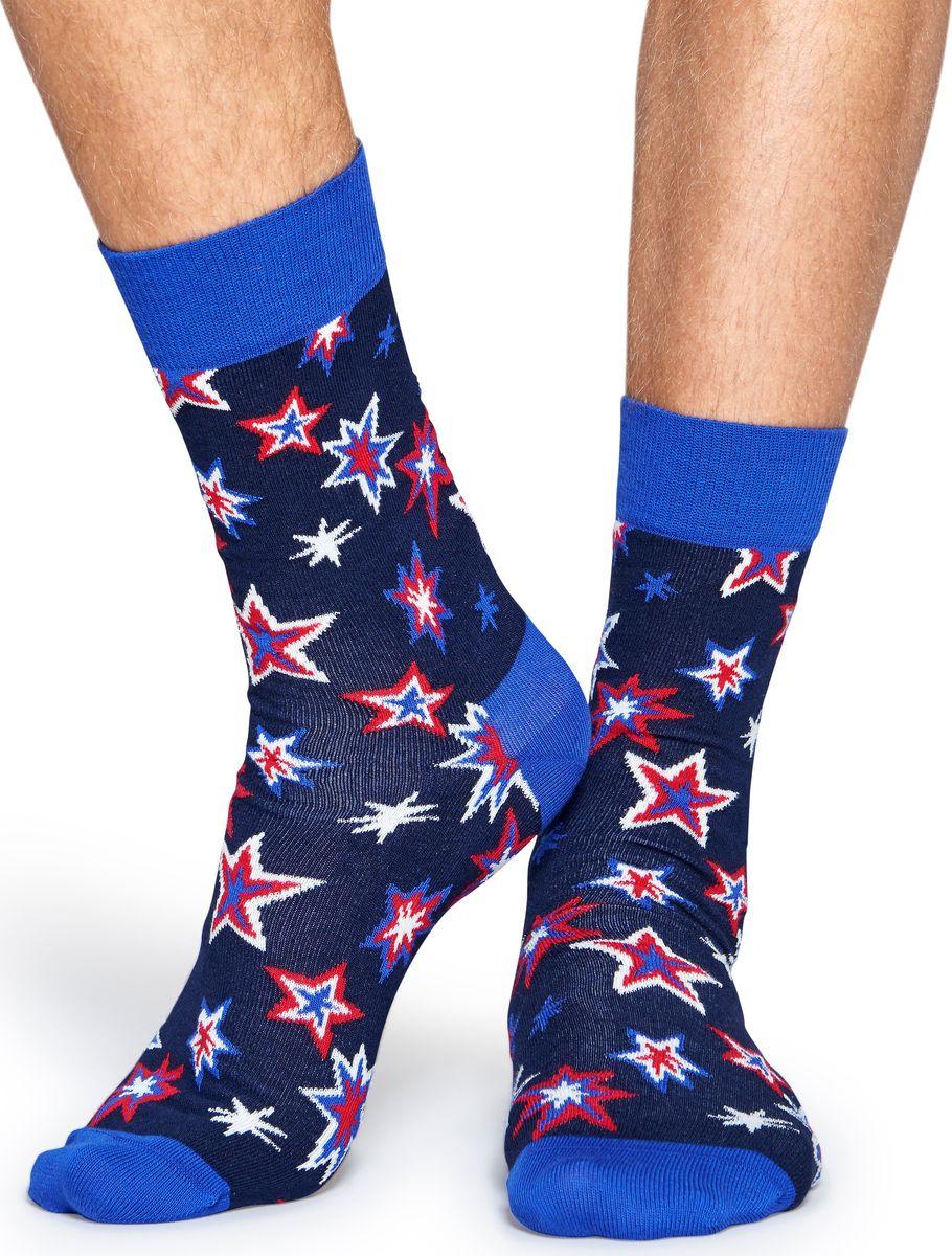 Носки Happy Socks Bang Bang, цвет: мультиколор. BNG01. Размер 41/46BNG01Носки Happy Socks Argyle, изготовленные из высококачественного комбинированного материала, очень мягкие и приятные на ощупь, позволяют коже дышать. Широкая эластичная резинка плотно облегает ногу, не сдавливая ее, обеспечивая комфорт и удобство. Модель оформлена оригинальным принтом.Удобные и комфортные носки великолепно подойдут к любой вашей обуви