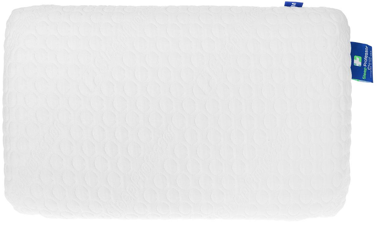 Подушка анатомическая Sleep Professor Cloud, размер S, цвет: белый5001021204.0022Подушка Sleep Professor Cloud выполнена из революционного материала Taktile. Съемный чехол выполнен из трикотажа с эффектом охлаждения (43% Тенсель / 56% Полиэстер / 1% Лайкра). Несъемный чехол из 100% хлопка. Анатомические подушки призваны улучшить комфорт и качество сна. Нормализовать цикл сна и бодрствования и уменьшить риск многих заболеваний поможет анатомическая подушка Sleep Professor Cloud. Во время сна на подушке Sleep Professor Cloud шейный отдел позвоночника находиться в правильном положении, кровоснабжение мозга протекает правильно.Особенности: - система правильной поддержки головы и шейного отдела позвоночника; - система вентиляции; - расслабление во время сна; - приятный охлаждающий эффект; - антибактериальный эффект; - предотвращает появление клещей.
