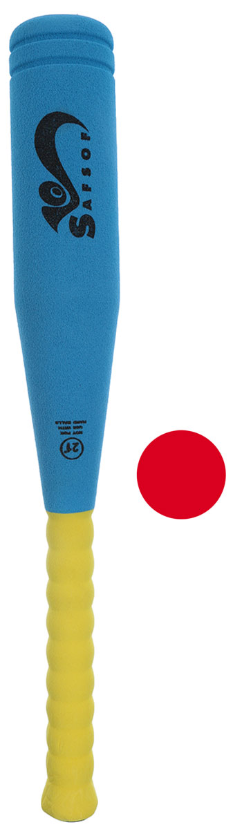 Zakazat.ru Safsof Игровой набор Бейсбольная бита и мяч цвет голубой желтый красный
