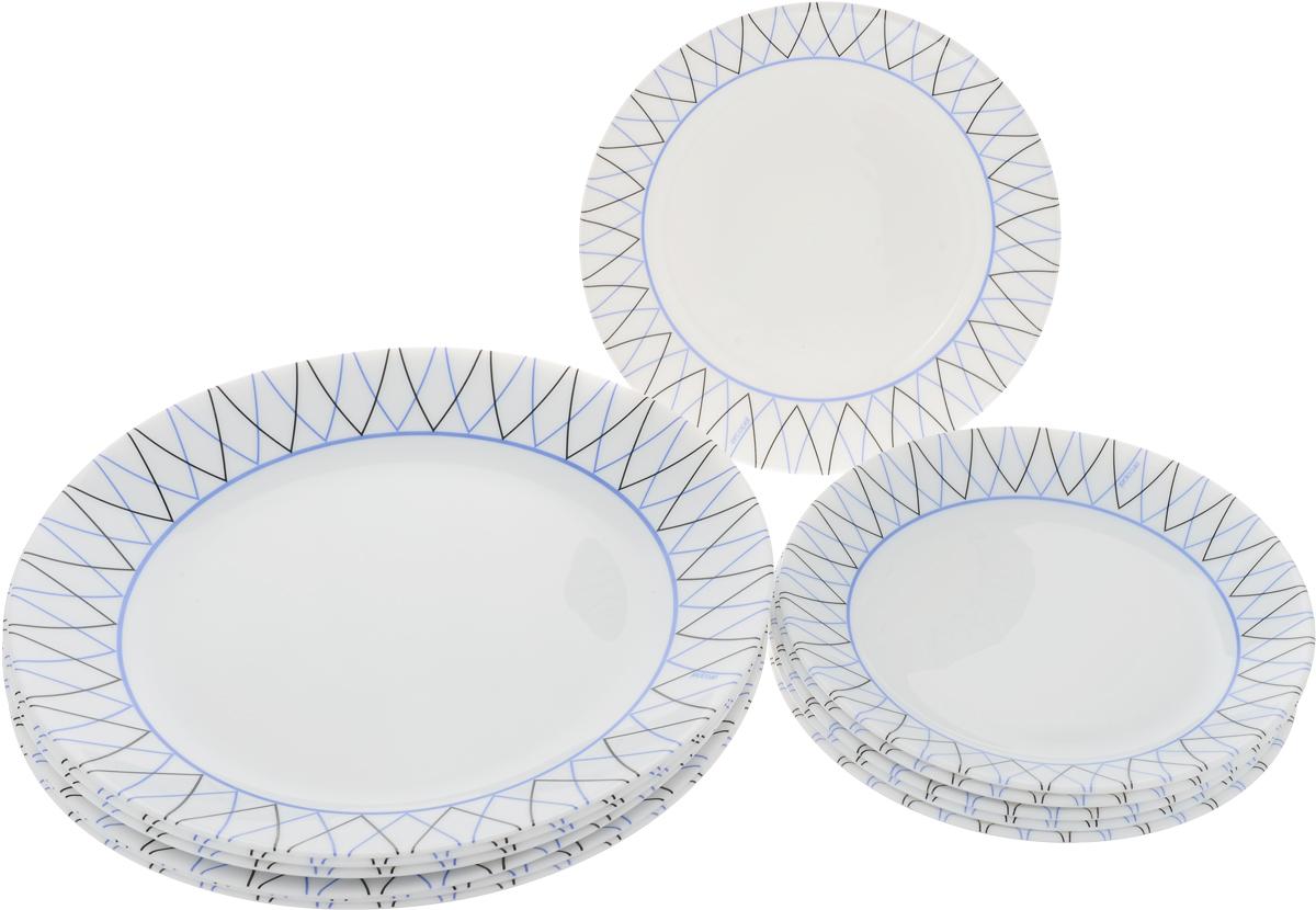 Набор столовый Luminarc Arcopal Adriel, 12 предметовL4964Столовый набор Luminarc Arcopal Adriel состоит из 6 обеденных тарелок и 6 десертных тарелок. Изделия, выполненные из высококачественного упрочненного стекла, имеют классическую круглую форму. Посуда отличается прочностью, гигиеничностью и долгим сроком службы, она устойчива к появлению царапин и резким перепадам температур.Такой набор прекрасно подойдет как для повседневного использования, так и для праздников или особенных случаев.Изделия можно мыть в посудомоечной машине и использовать в микроволновой печи.Диаметр обеденной тарелки (по верхнему краю): 25 см.Высота обеденной тарелки: 2,5 см.Диаметр десертной тарелки (по верхнему краю): 18 см.Высота десертной тарелки: 2 см.