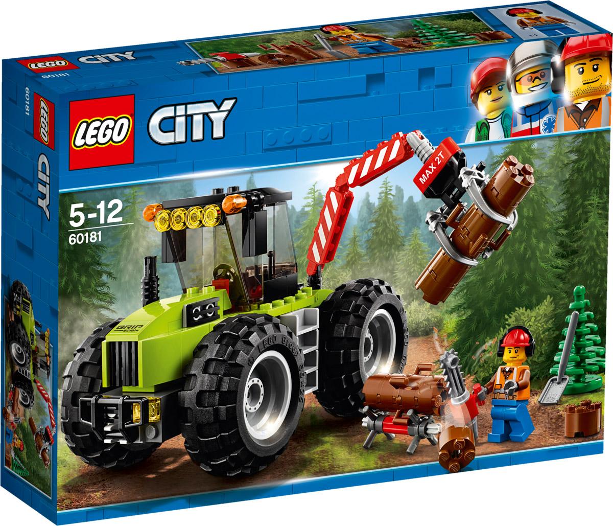 LEGO City Great Vehicles Конструктор Лесной трактор 60181 футболка женская baon цвет белый b237081 white размер xl 50