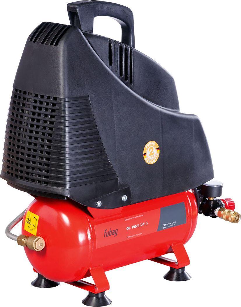 Компрессор Fubag OL 195/6 CM1.5A6BB304KOA600 (A6BB304KOA544)Безмасляный коаксиальный компрессор Fubag OL 195/6 CM1,5 производительностью 180 л/мин. Компактный компрессор с небольшим ресивером 24 л отлично подходит для различных работ дома, на даче и в гараже. Легко запускается при низких температурах. Уверенно работает на неровных и наклонных поверхностях. Безмасляный компрессор обеспечивает чистый, без примесей масла, воздух на выходе. Это особенно важно там, где чистота воздуха оказывает огромное влияние на результат, например, покраска автомобиля или аэрография Высокая надежность аппарата достигается за счет функции тепловой защиты двигателя, отключающая компрессор при перегрузке. Головка цилиндра компрессора имеет большие ребра охлаждения, за счет чего достигается еще большая эффективность работы системы теплоотвода. Встроенный воздушный фильтр очищает всасываемый воздух, что также значительно продлевает срок службы компрессораНебольшой по габаритам и весу компрессор, имеет внушительные колеса и эргономичную ручку. Легкая транспортировка и дальнейшее хранение компрессора возможны как в горизонтальном, так и в вертикальном положении. Характеристики:Минимальное давление: 1 барМаксимальное давление: 8 барТип привода: прямой Частота: 50 Гц.