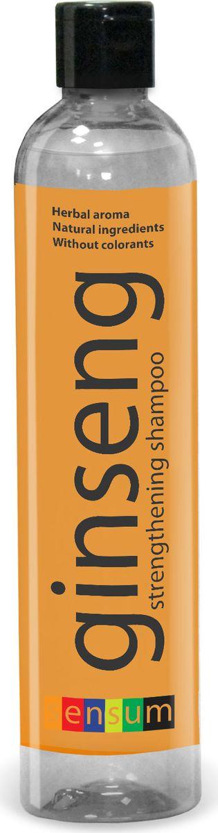 Sen Sum Шампунь укрепляющий с женьшенем и хмелем, 350 мл2263389Шампунь эффективно очищает волосы и кожу головы, бережно ухаживает за волосами, возвращая им здоровый вид. Улучшает структуру волос, повышает их прочность и эластичность, питает и укрепляет корни. Свежий травяной аромат подарит Вам ощущение солнечного летнего дня, поможет отвлечься от забот и сделает процесс ухода за волосами особенно приятным. Укрепляющий шампунь вернет Вашим волосам силу, сделает их более мягкими и шелковистыми. Активные компоненты Экстракт женьшеня способствует ускорению микроциркуляции крови, оказывает укрепляющее действие на корни волос, стимулирует их рост. Эффективно питает кожу головы и восстанавливает структуру волос.Экстракт хмеля нормализует жировой баланс кожи головы и волос. Препятствует выпадению волос, укрепляя их корни.