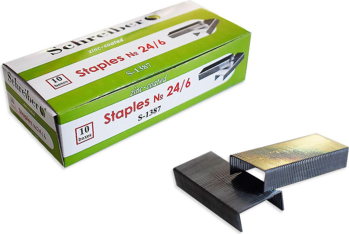 Schreiber Скобы для степлера № 24S 1387Скобы являются сменным элементом для степлеров. Применяется для скрепления между собой различных материалов.