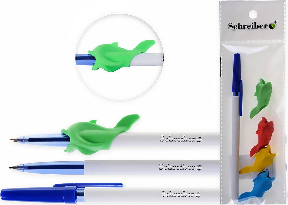 Schreiber Ручка шариковая Самоучка синяя + 4 рыбкиS 325-1193-4Ручка-самоучка позволяет без усилий выработать правильную постановку пальцев при обученииписьму. Вам больше не нужно стоять над пишущим ребенком и следить за тем, чтобы онправильно держал ручку. Не нужно каждый раз объяснять, где должен быть каждый пальчик икакой должен быть наклон. С помощью этого тренажера взять ручку неправильно простоневозможно!