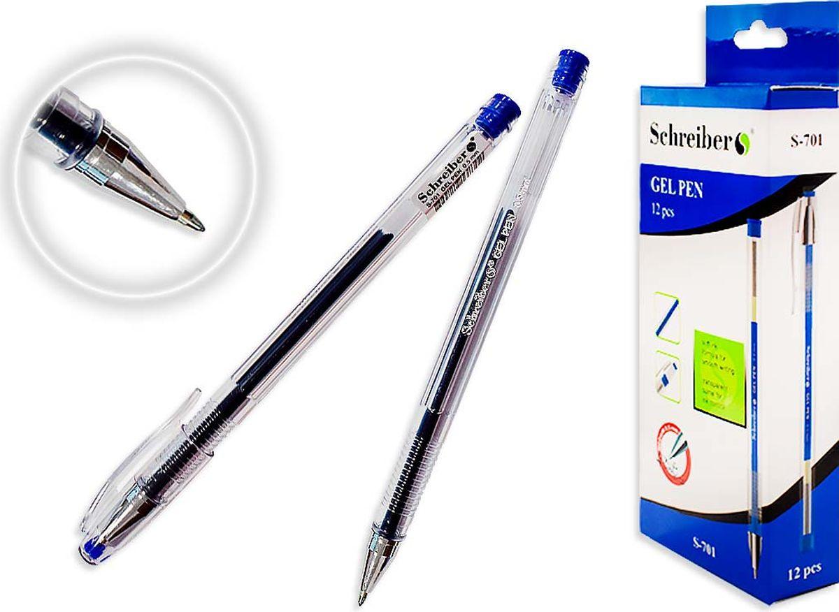 Schreiber Ручка гелевая цвет чернил синийS 701Гелевая ручка отличный выбор для любителей мягкого и удобного письма. Гелевая консистенция чернил равномерно распределяется по бумаге и быстро сохнет. Гладкое скольжение пишущего узла, удобный корпус и доказанная надежность делает такие ручки одними из самых популярных письменных принадлежностей среди детей и взрослых.