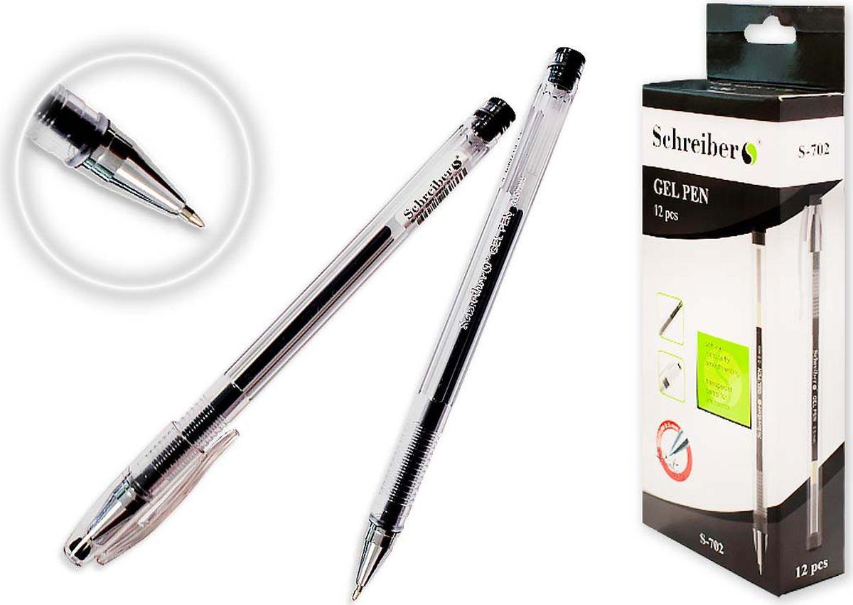Schreiber Ручка гелевая черная S 702S 702Гелевая ручка отличный выбор для любителей мягкого и удобного письма. Гелевая консистенция чернил равномерно распределяется по бумаге и быстро сохнет. Гладкое скольжение пишущего узла, удобный корпус и доказанная надежность делает такие ручки одними из самых популярных письменных принадлежностей среди детей и взрослых.
