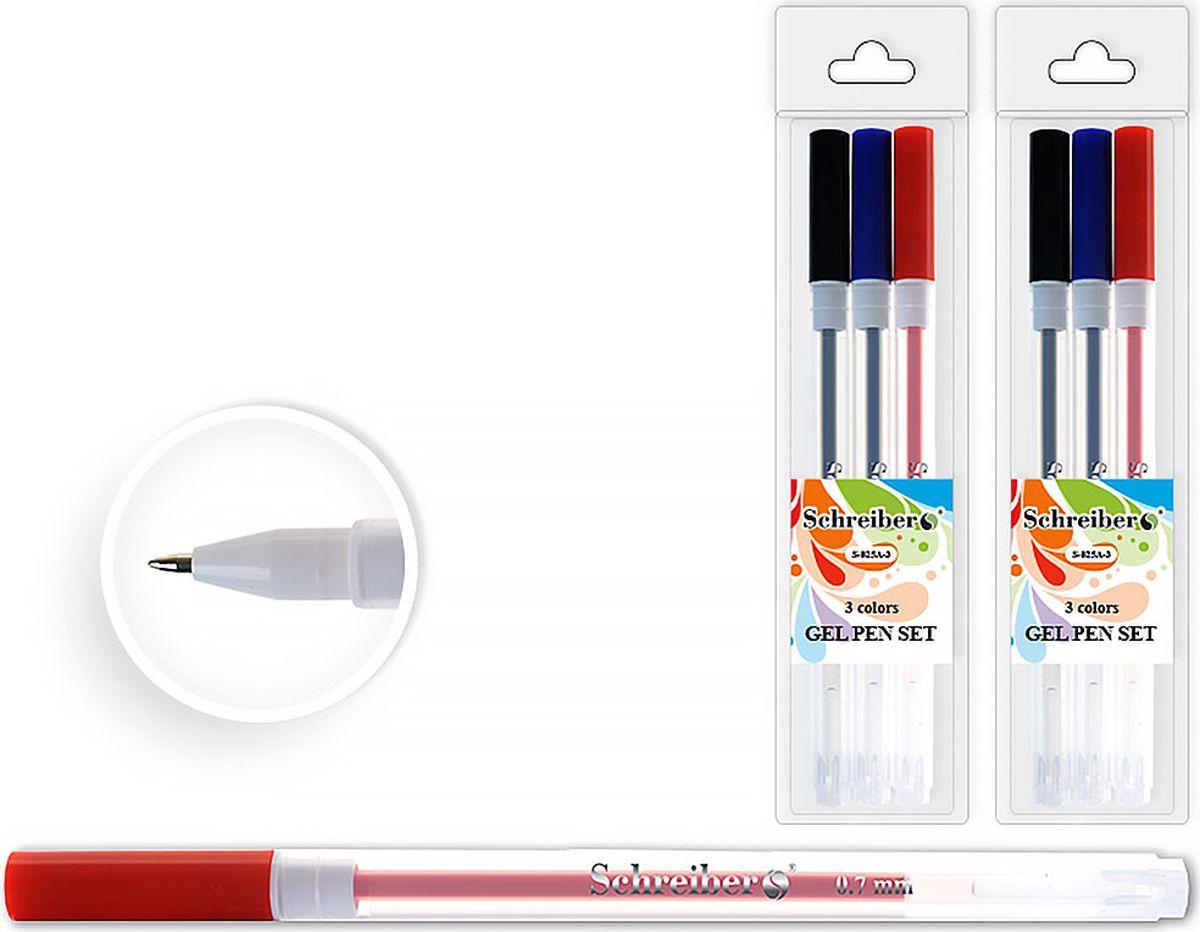 Schreiber Набор гелевых ручек 3 цвета S-825 A-3S-825 A-3Гелевая ручка отличный выбор для любителей мягкого и удобного письма. Гелевая консистенция чернил равномерно распределяется по бумаге и быстро сохнет. Гладкое скольжение пишущего узла, удобный корпус и доказанная надежность делает такие ручки одними из самых популярных письменных принадлежностей среди детей и взрослых.