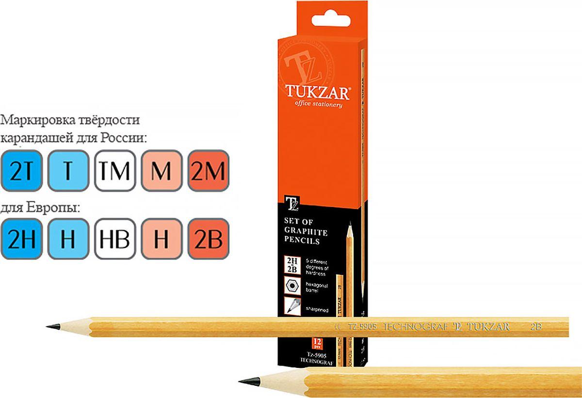 купить Tukzar Набор чернографитных карандашей 12 шт недорого