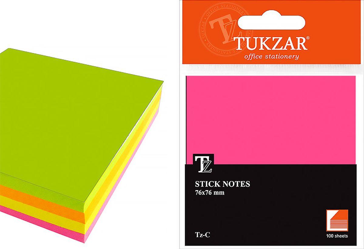 Tukzar Блок для записей 7,6 х 7,6 см 200 листовTZ FНабор блоков с липким слоем не займёт много места на столе и в нужный момент всегда окажутсяпод рукой. Листочки легко приклеиваются к любой поверхности, будь то бумага, корпус монитора,дверь. Не оставляют следов после отклеивания.