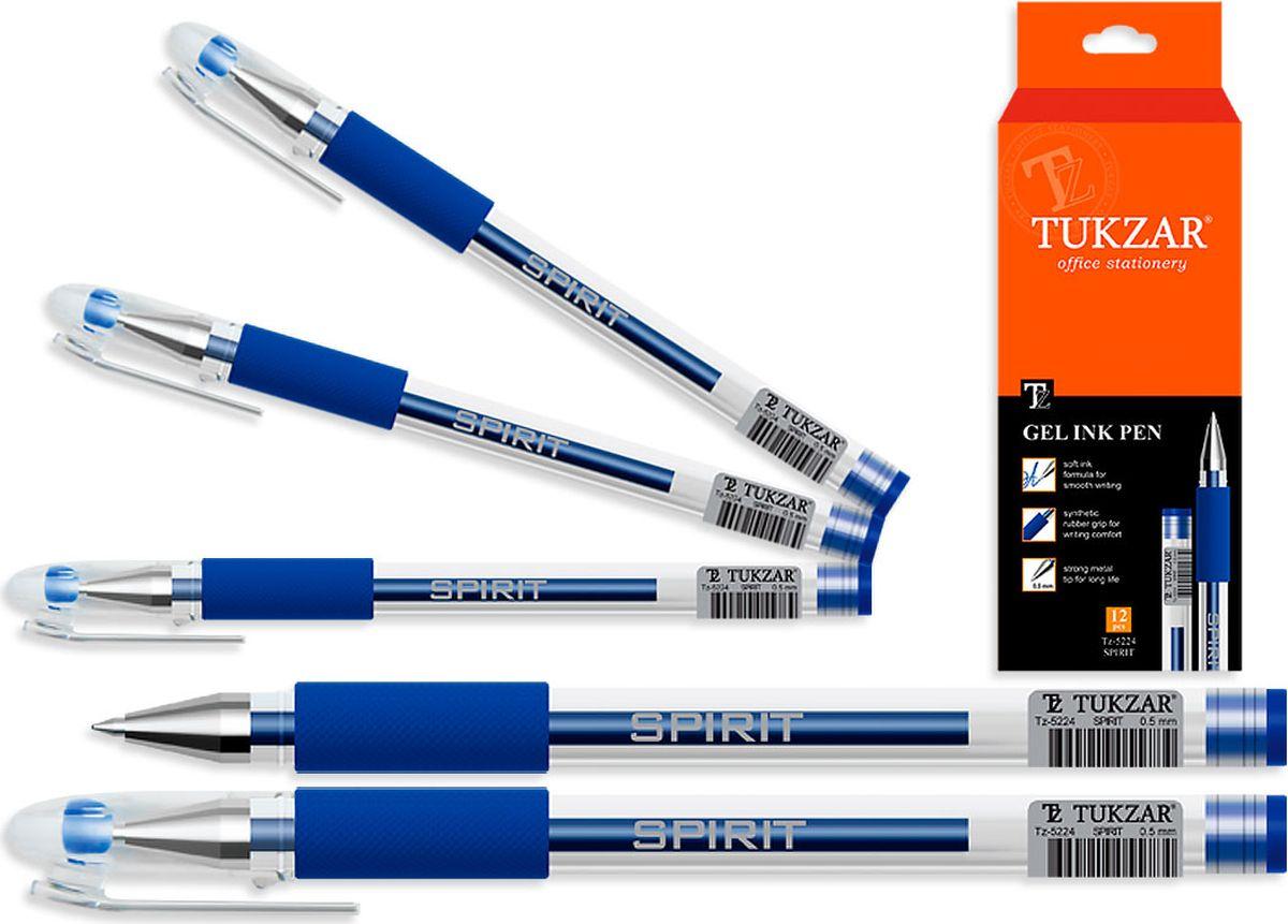 Tukzar Ручка гелевая синяя TZ-5224TZ-5224Гелевая ручка отличный выбор для любителей мягкого и удобного письма. Гелевая консистенция чернил равномерно распределяется по бумаге и быстро сохнет. Гладкое скольжение пишущего узла, удобный корпус и доказанная надежность делает такие ручки одними из самых популярных письменных принадлежностей среди детей и взрослых.
