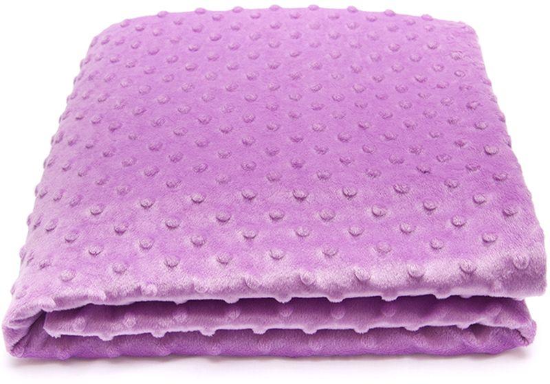 Сонный гномик Плед для новорожденных Горошек цвет сиреневый570/12Размер, см: 90х90. Материал верха: Плюш минки дот (Вельбоа, 100% ПЭ). Подкладка: Трикотаж (100% Хлопок). Утеплитель: Синтепон (плотность 100г/кв.м).
