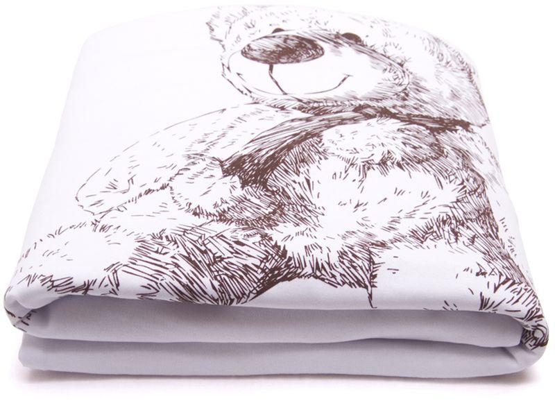 Сонный гномик Плед для новорожденных Медвежата цвет белый600/0Размер, см: 85х85.Температурный режим, °С: От +10 до +20.Сезонность: Весна, лето, осень.Материал верха: Трикотаж (100% Хлопок).Материал основы: Трикотаж (100% Хлопок). Наполнитель: Синтепон (плотность 60г/кв.м).