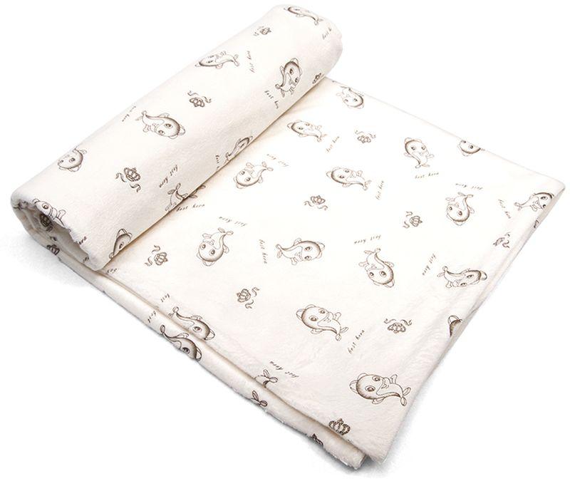 Сонный гномик Плед для новорожденных Капелька цвет слоновая кость574/4Размер, см: 90х90.Материал верха: Вельбоа/Плюш минки (100% ПЭ).Подкладка: Трикотаж (100% Хлопок).