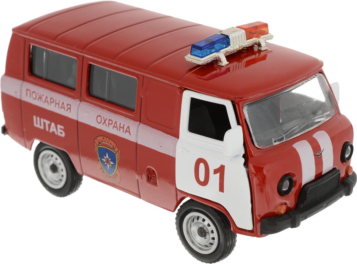 Autotime Модель автомобиля UAZ 39625 Пожарная охрана машина пламенный мотор volvo v70 пожарная охрана 870189