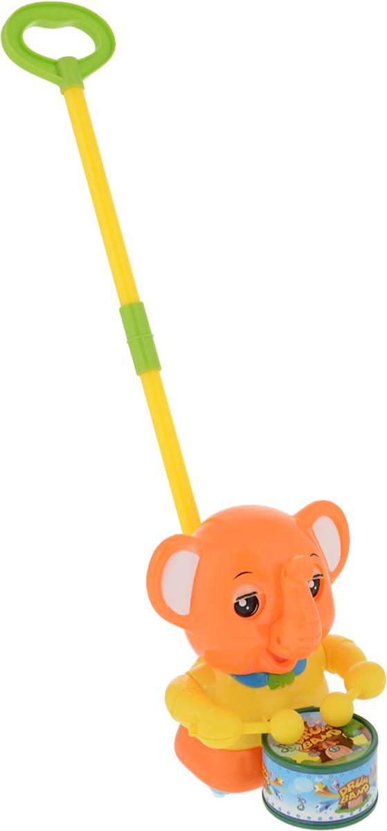 Play Smart Игрушка-каталка Веселый барабанщик Слон цвет желтый оранжевый