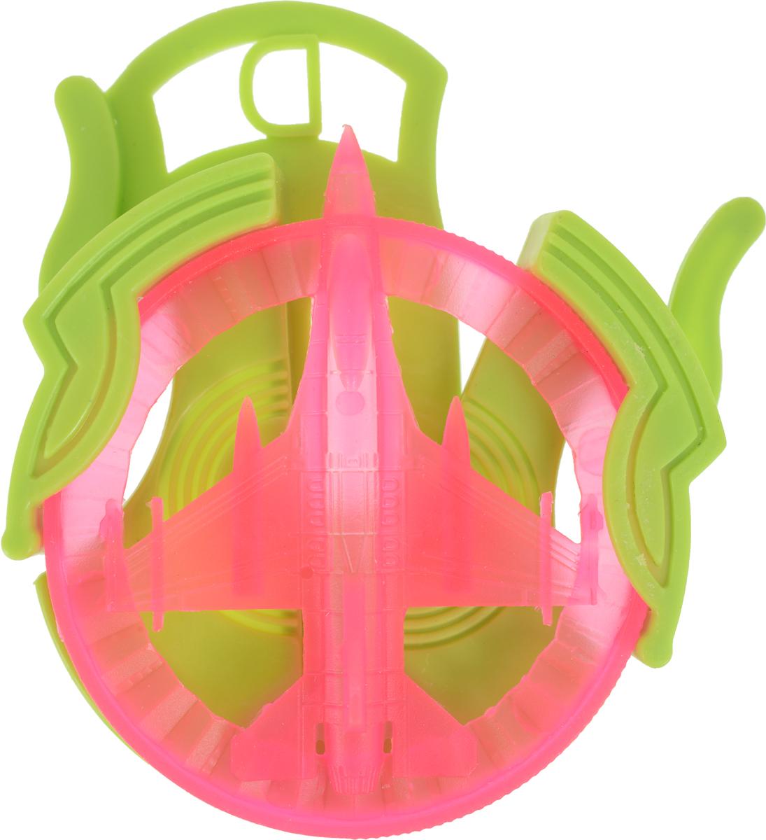 Sima-land Стрелялка Самолет цвет салатовый розовый 394294 кармашки на стену sima land приятные мелочи цвет салатовый розовый бордовый 5 шт