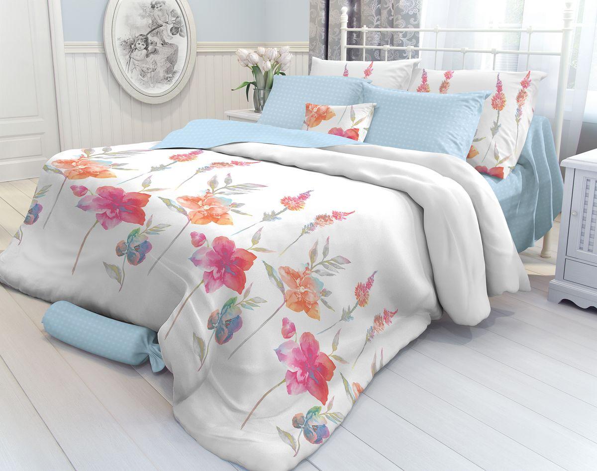 Комплект белья Verossa Color Flowers, 1,5-спальный, наволочки 70х70. 707889707889Комплект постельного белья Verossa включает в себя четыре предмета: простыню, пододеяльник и две наволочки, выполненные из перкаля. Перкаль - это тонкая, повышенной плотности в основном белая хлопчатобумажная ткань полотняного переплетения.Постельное белье Verossa предназначено для людей ценящих комфорт, стиль и высокое качество.Советы по выбору постельного белья от блогера Ирины Соковых. Статья OZON Гид