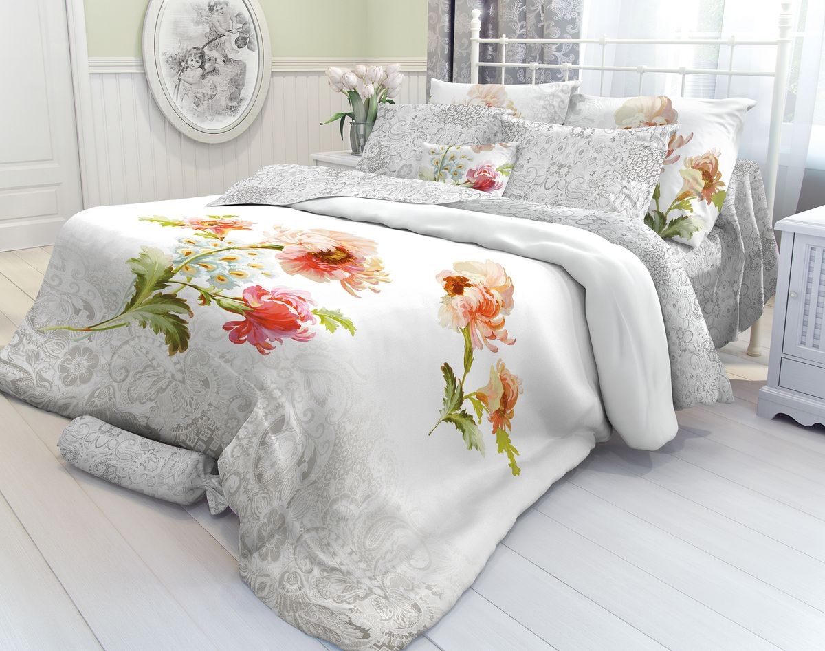 Комплект белья Verossa Romance, 1,5-спальный, наволочки 70х70. 710549710549