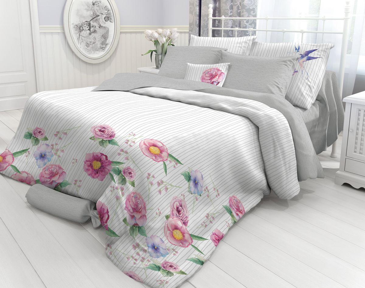 Комплект белья Verossa Martlet, 2-спальный, наволочки 70х70. 718724718724Комплект постельного белья Verossa включает в себя четыре предмета: простыню, пододеяльник и две наволочки, выполненные из перкаля. Перкаль - это тонкая, повышенной плотности в основном белая хлопчатобумажная ткань полотняного переплетения.Постельное белье Verossa предназначено для людей ценящих комфорт, стиль и высокое качество.Советы по выбору постельного белья от блогера Ирины Соковых. Статья OZON Гид