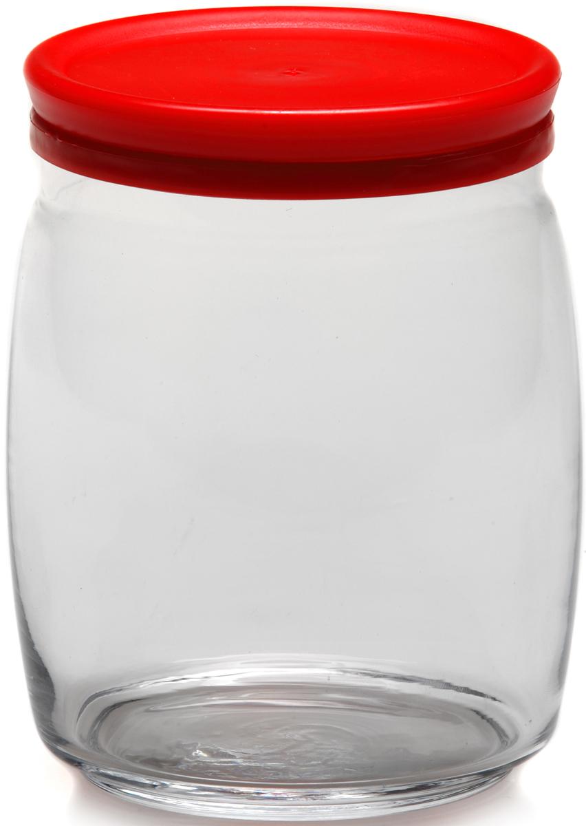 Банка для сыпучих продуктов Pasabahce Cesni, с крышкой, цвет: красный, прозрачный, 940 мл43004SLBБанка Pasabahce Cesni выполнена из прочного натрий-кальций-силикатногостекла. Банка оснащена пластиковой плотно прилегающей крышкой. В такой банкеудобно хранить крупы, специи, орехи и многое другое.Функциональная и практичная, такая банка станет незаменимым аксессуаром навашей кухне. Высота банки (без учета крышки): 14 см.