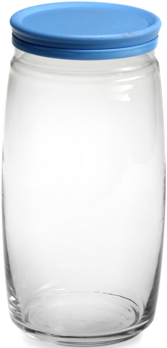 Банка для сыпучих продуктов Pasabahce Cesni, с крышкой, цвет: голубой, прозрачный, 1500 мл. 43023B43023BБанка Pasabahce Cesni выполнена из прочного натрий-кальций-силикатногостекла. Банка оснащена пластиковой плотно прилегающей крышкой. В такой банкеудобно хранить крупы, специи, орехи и многое другое.Функциональная и практичная, такая банка станет незаменимым аксессуаром навашей кухне. Высота банки (без учета крышки): 22 см.