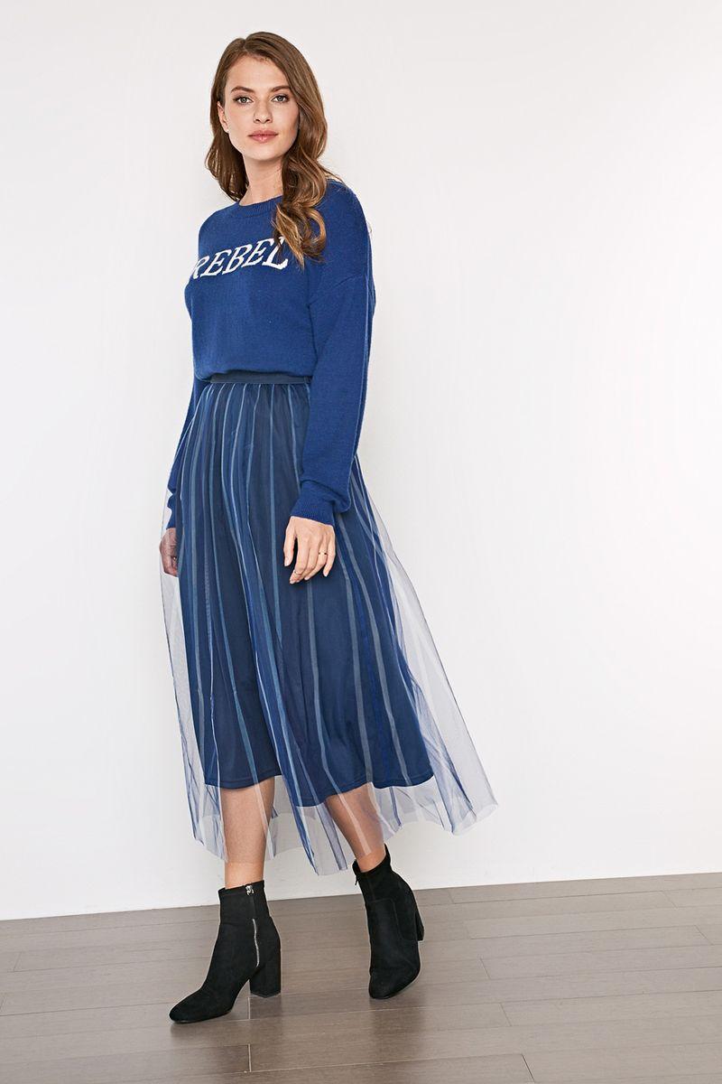 Джемпер женский Concept Club Hope_1, цвет: темно-синий. 10200310148_600. Размер XXS (40)10200310148_600