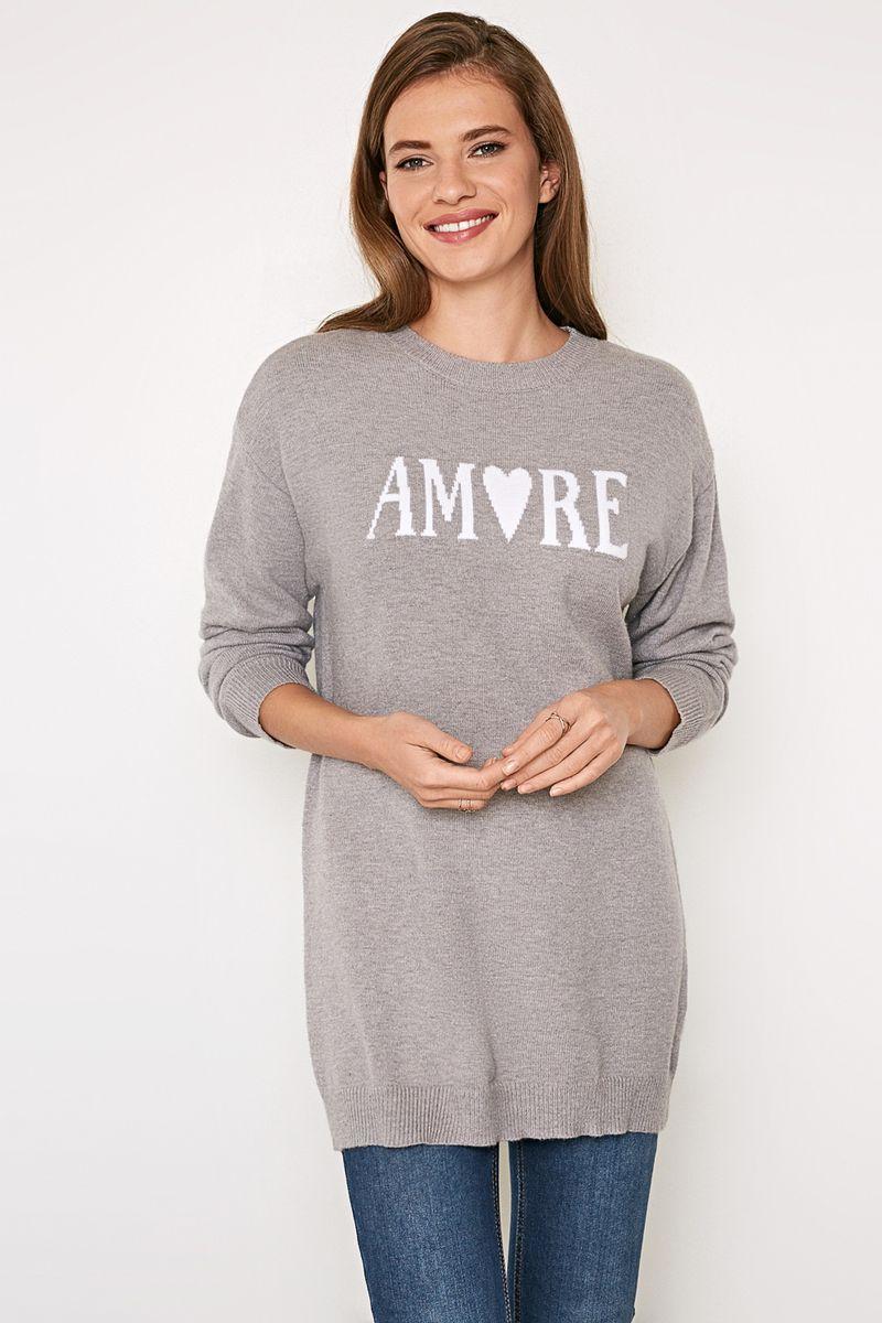 Джемпер женский Concept Club Hope_1, цвет: светло-серый. 10200310148_1800. Размер M (46) женский гардероб