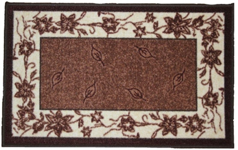 Ковер МАС Розетта. Листья, цвет: коричневый, 44 x 70 см23622/листья коричневыйВлагонепроницаемый коврик на резиновой основе подойдет для любого интерьера в гостиной, ванной или прихожей. Легко моется и чистится.