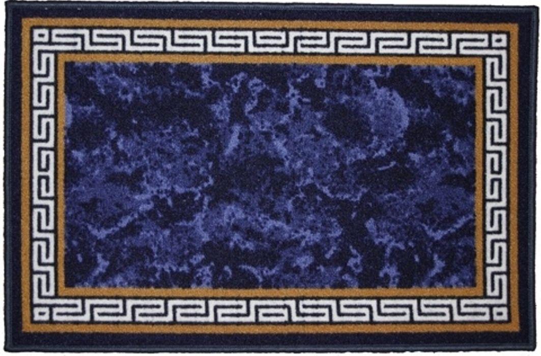 Ковер МАС Розетта. Версаче, цвет: синий, 50 x 76 см23624/версаче синийВлагонепроницаемый коврик на резиновой основе подойдет для любого интерьера в гостиной, ванной или прихожей. Легко моется и чистится.