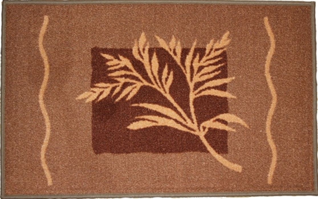 Ковер МАС Розетта. Ветка, цвет: коричневый, бежевый, 50 x 76 см23625/ветка кор/ бежВлагонепроницаемый коврик на резиновой основе подойдет для любого интерьера в гостиной, ванной или прихожей. Легко моется и чистится.