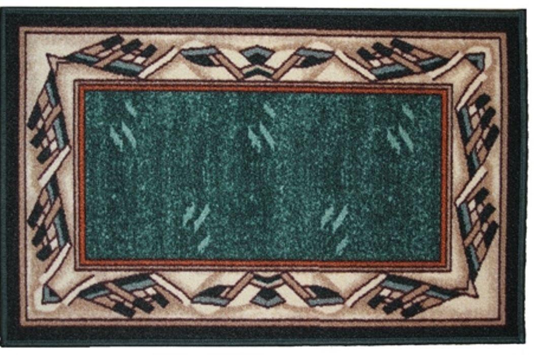 Ковер МАС Розетта. Кайма, цвет: зеленый, 50 x 76 см ковер для прихожей afaw
