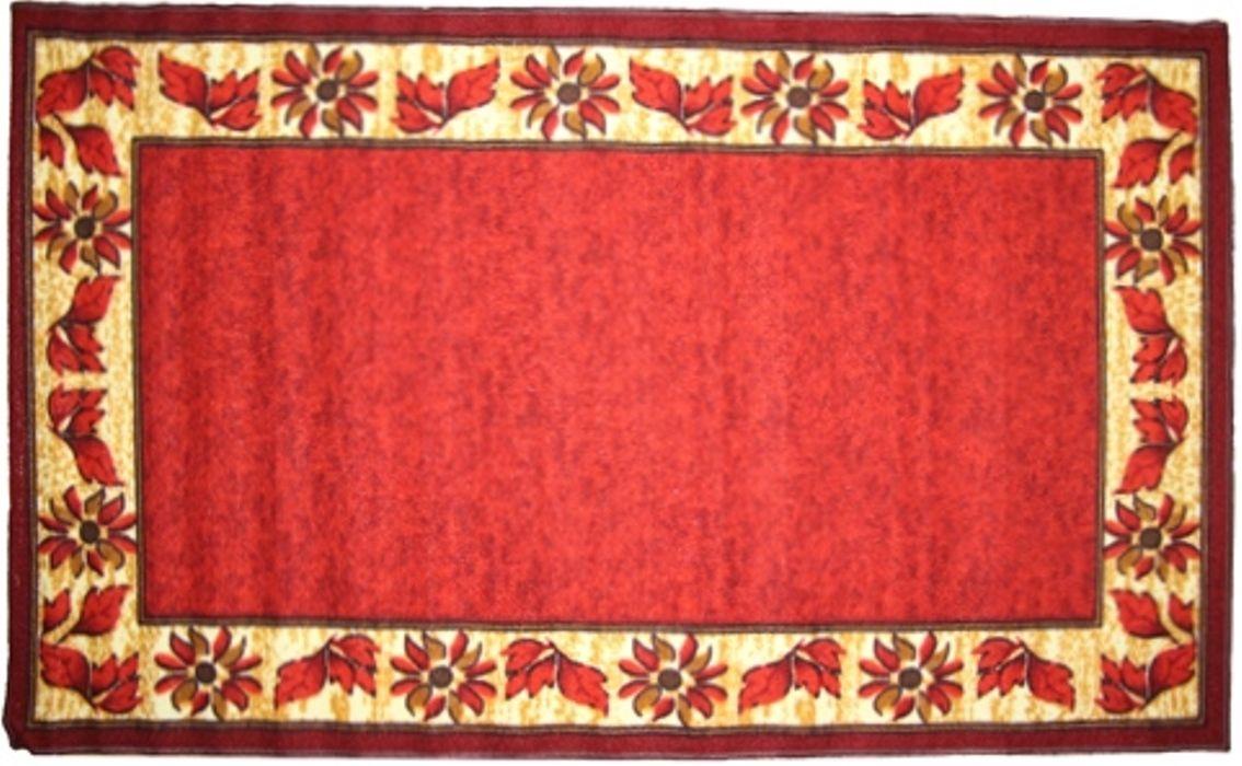 Ковер МАС Розетта, цвет: красный, 80 x 150 см23631/красныйВлагонепроницаемый коврик на резиновой основе подойдет для любого интерьера в гостиной, ванной или прихожей. Легко моется и чистится.