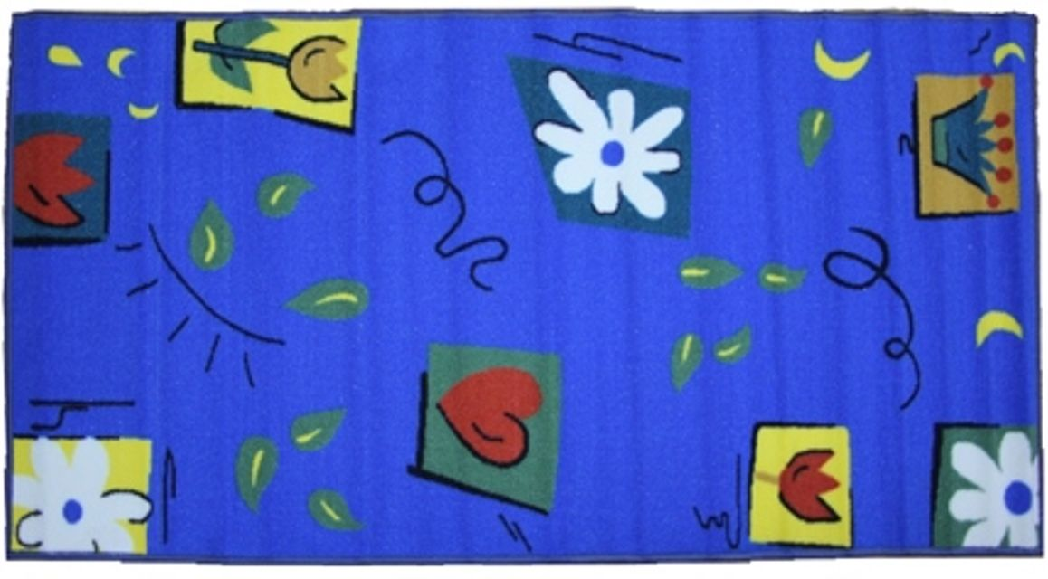 Ковер МАС Розетта, цвет: синий, 80 x 150 см23632/синий 1Влагонепроницаемый коврик на резиновой основе подойдет для любого интерьера в гостиной, ванной или прихожей. Легко моется и чистится.