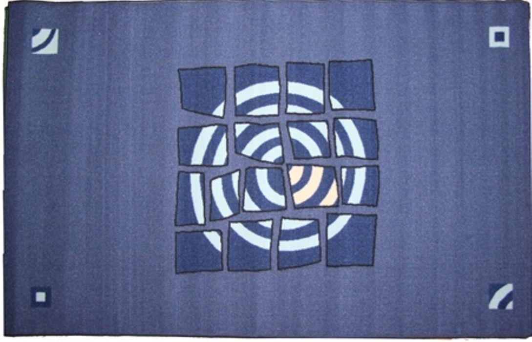 Ковер МАС Розетта, 100 х 160 см23638/синийВлагонепроницаемый коврик на резиновой основе подойдет для любого интерьера в гостиной, ванной или прихожей. Легко моется и чистится.