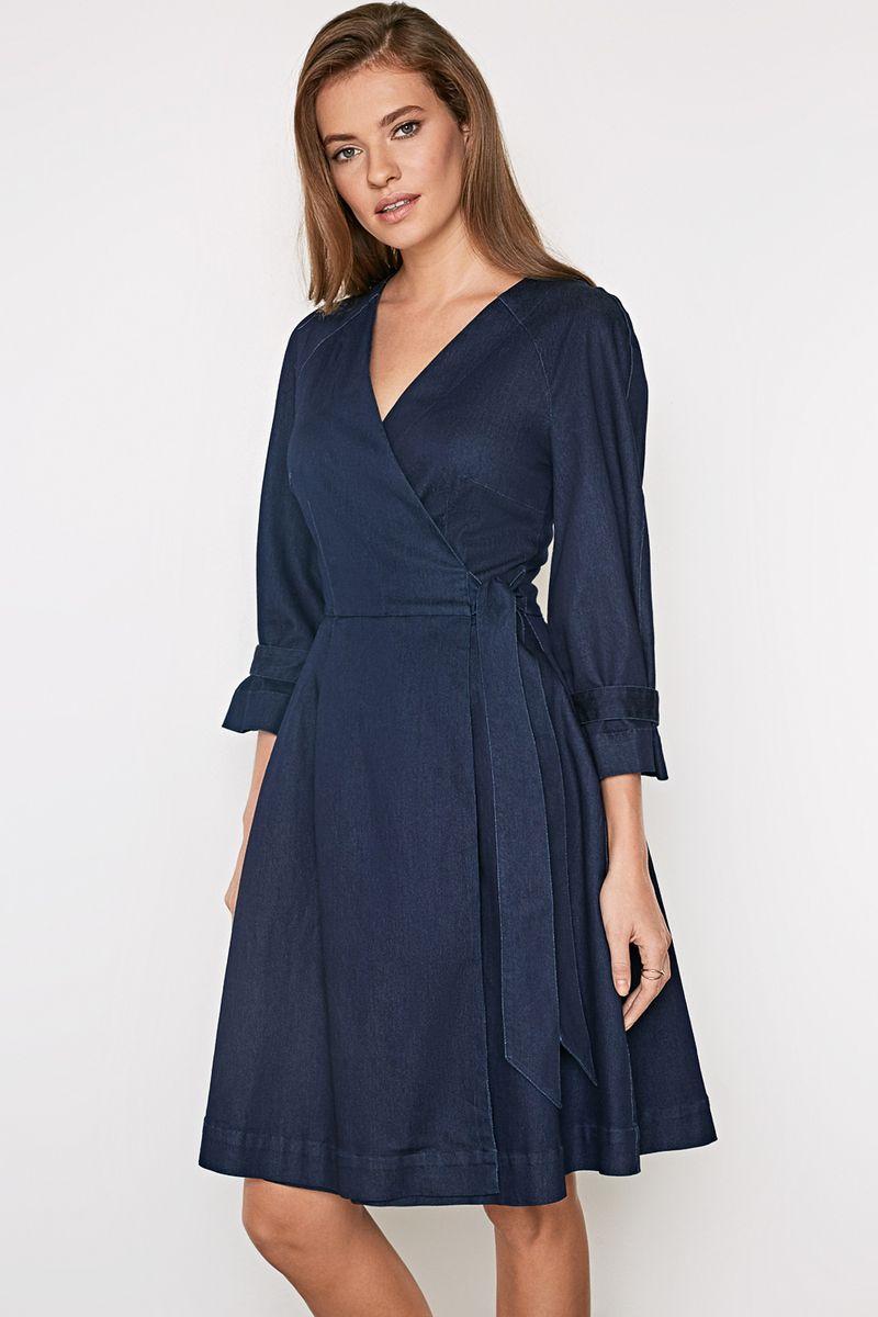 Платье женское Concept Club Tagadi, цвет: глубокий синий. 10200200406_8600. Размер XS (42)10200200406_8600