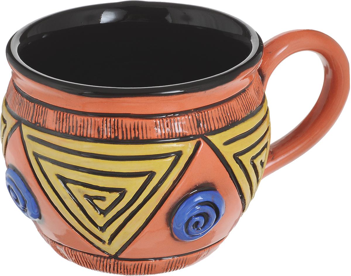 Чашка чайная Борисовская керамика Хэндмэйд. Желтый треугольник, 300 млОБЧ00003214_оранжевый, желтый треугольникУдобная чашка Борисовская керамика Хэндмэйд предназначена для повседневного использования. Она выполнена из высококачественной керамики. Природные свойства этого материала позволяют долго сохранять температуру напитка, даже если вы пьете что-то холодное.