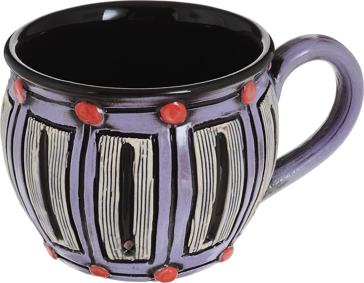 Чашка чайная Борисовская керамика Хэндмэйд, цвет: сиреневый, черный, белый, 300 млОБЧ00003214_сиреневый, черный, белые прямоугольникУдобная чашка Борисовская керамика Хэндмэйд предназначена для повседневного использования. Она выполнена из высококачественной керамики. Природные свойства этого материала позволяют долго сохранять температуру напитка, даже если вы пьете что-то холодное.