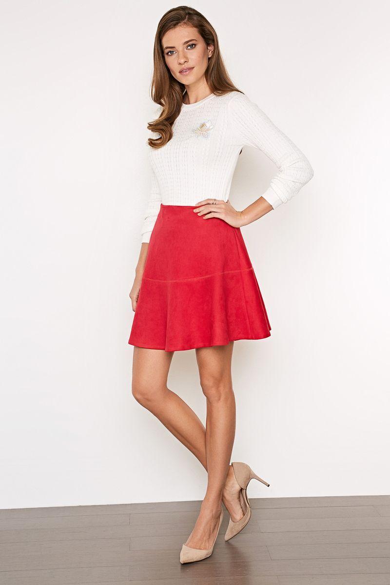 Юбка Concept Club Sladko, цвет: бордовый. 10200180231_1600. Размер XXS (40)10200180231_1600Стильная юбка, выполненная из полиэстера с добавлением полиуретана, станет отличным дополнением вашего образа. Модель имеет завышенную талию и сбоку застегивается на потайную застежку-молнию.