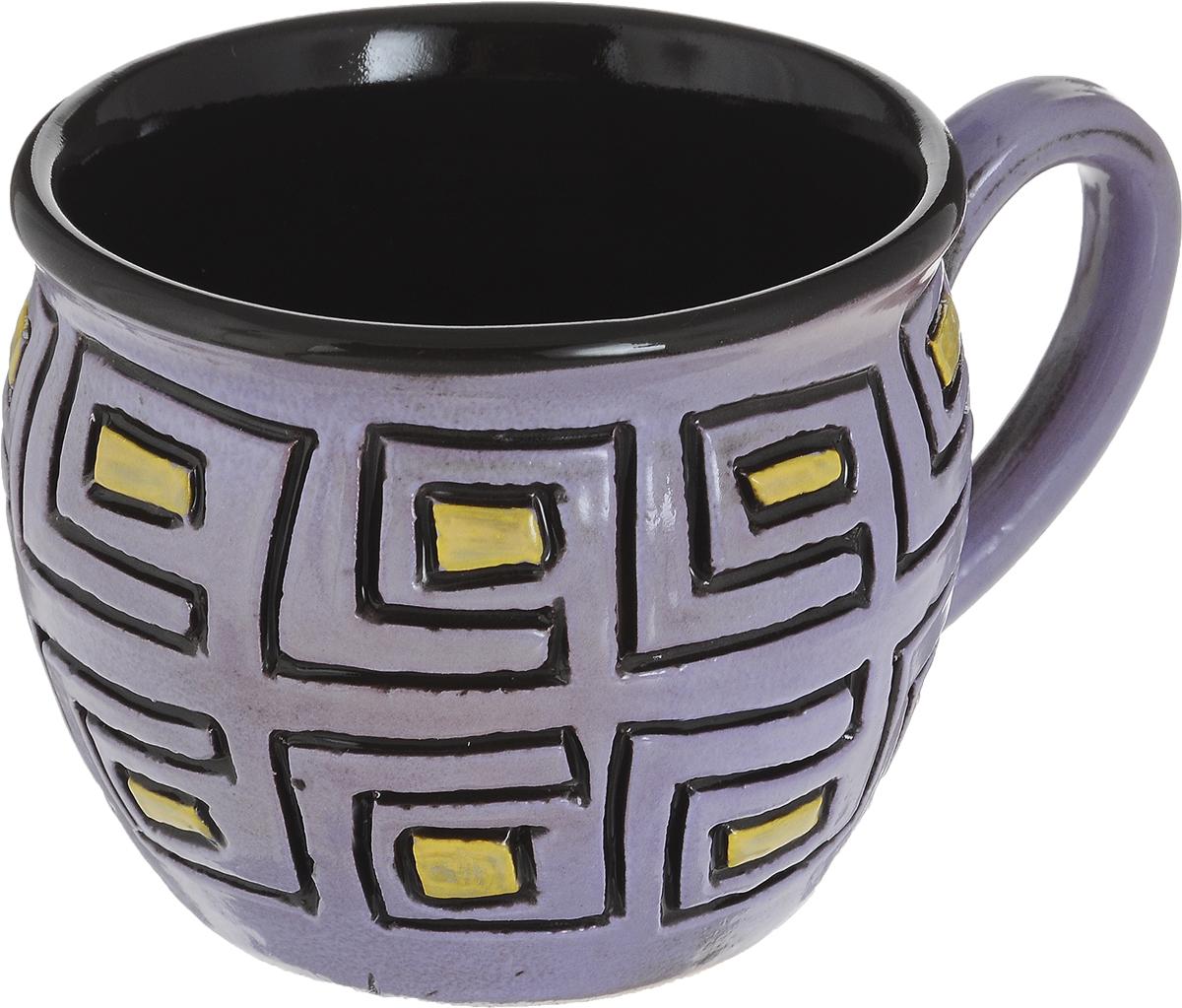 Чашка чайная Борисовская керамика Хэндмэйд, цвет: сиреневый, черный, желтый, 300 млОБЧ00003214_сиреневый, черный, желтыйУдобная чашка Борисовская керамика Хэндмэйд предназначена для повседневного использования. Она выполнена из высококачественной керамики. Природные свойства этого материала позволяют долго сохранять температуру напитка, даже если вы пьете что-то холодное.