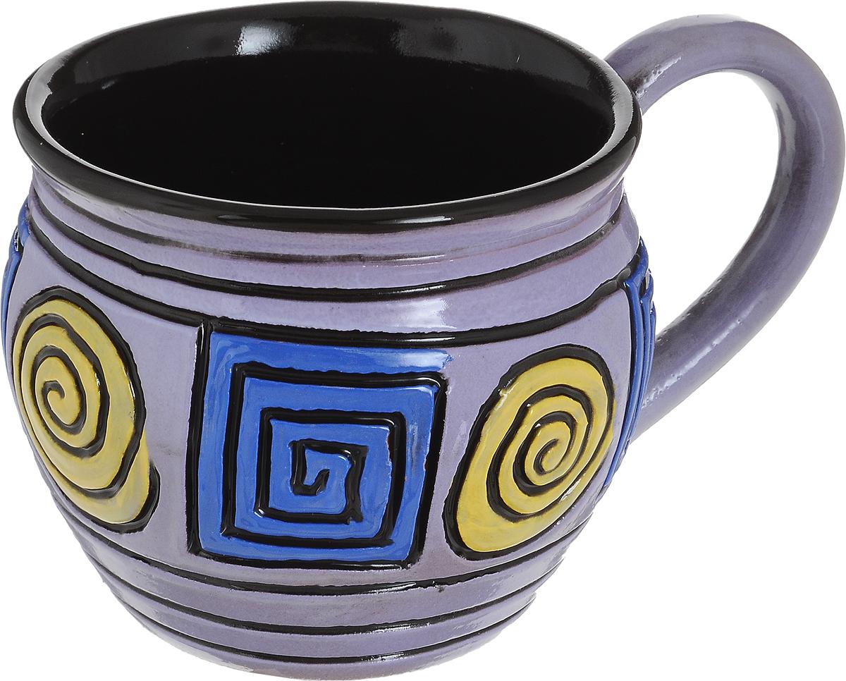 Чашка чайная Борисовская керамика Хэндмэйд, цвет: сиреневый, желтый, синий, 300 млОБЧ00003214_сиреневый, круг желтый, квадрат синийУдобная чашка Борисовская керамика Хэндмэйд предназначена для повседневного использования. Она выполнена из высококачественной керамики. Природные свойства этого материала позволяют долго сохранять температуру напитка, даже если вы пьете что-то холодное.