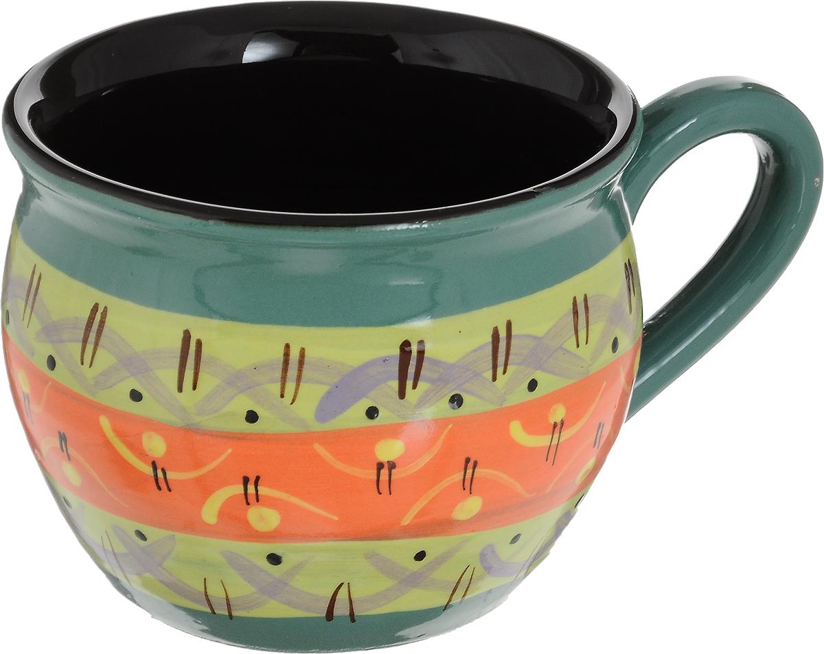 """Удобная чашка Борисовская керамика """"Хэндмэйд"""" предназначена для повседневного использования. Она выполнена из высококачественной керамики. Природные свойства этого материала позволяют долго сохранять температуру напитка, даже если вы пьете что-то холодное."""