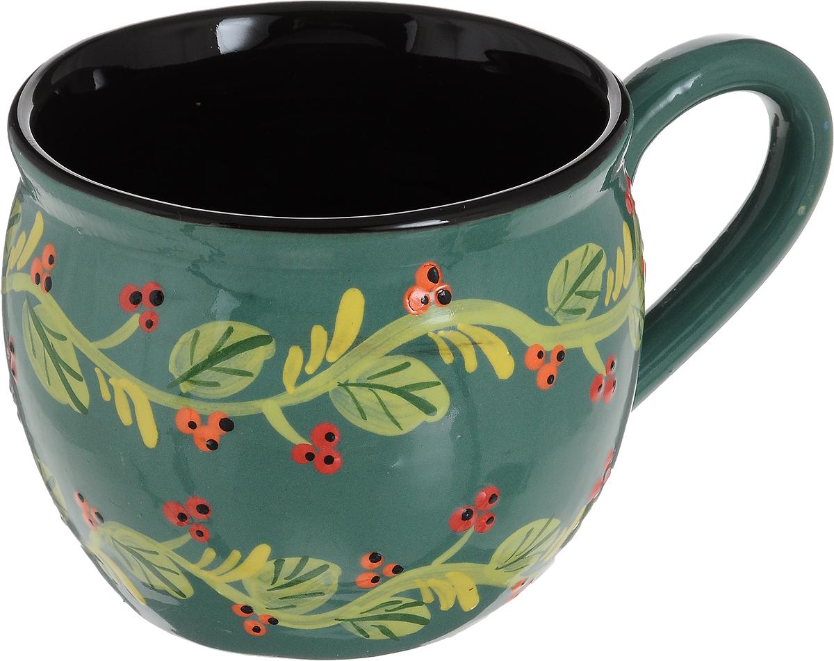 Чашка чайная Борисовская керамика Хэндмэйд. Ветка, 300 млОБЧ00003214_зеленый, двойная веткаУдобная чашка Борисовская керамика Хэндмэйд предназначена для повседневного использования. Она выполнена из высококачественной керамики. Природные свойства этого материала позволяют долго сохранять температуру напитка, даже если вы пьете что-то холодное.