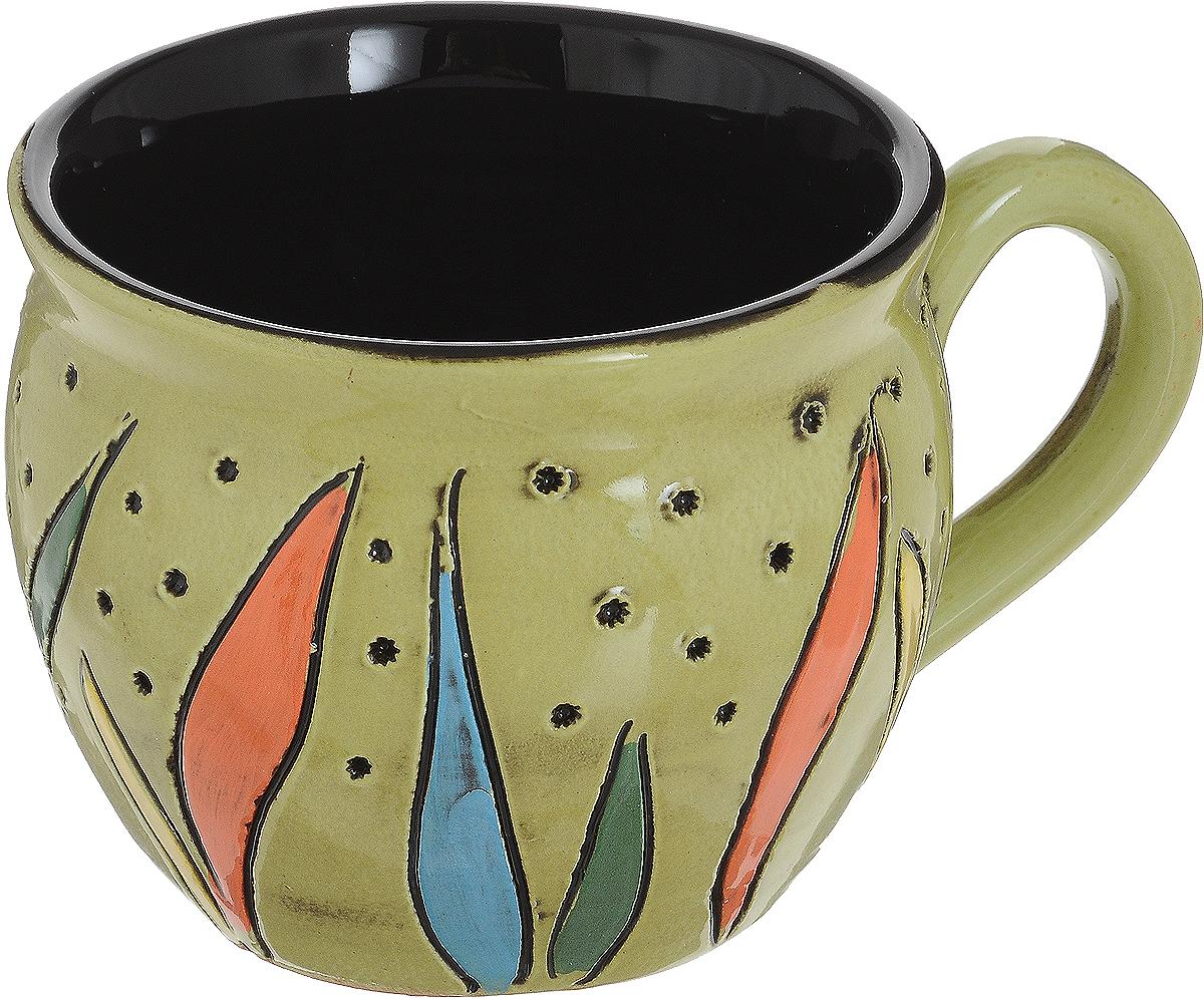 Чашка чайная Борисовская керамика Хэндмэйд. Разноцветные листки, цвет: салатовый, 300 млОБЧ00003214_салатовый, листики разноцветныеУдобная чашка Борисовская керамика Хэндмэйд предназначена для повседневного использования. Она выполнена из высококачественной керамики. Природные свойства этого материала позволяют долго сохранять температуру напитка, даже если вы пьете что-то холодное.