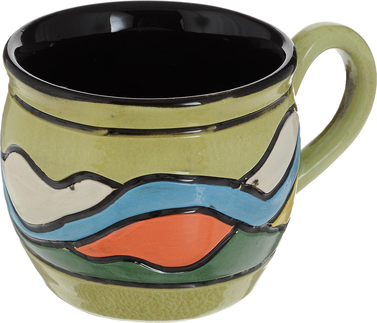 Чашка чайная Борисовская керамика Хэндмэйд. Волны, 300 млОБЧ00003214_салатовый, волныУдобная чашка Борисовская керамика Хэндмэйд предназначена для повседневного использования. Она выполнена из высококачественной керамики. Природные свойства этого материала позволяют долго сохранять температуру напитка, даже если вы пьете что-то холодное.