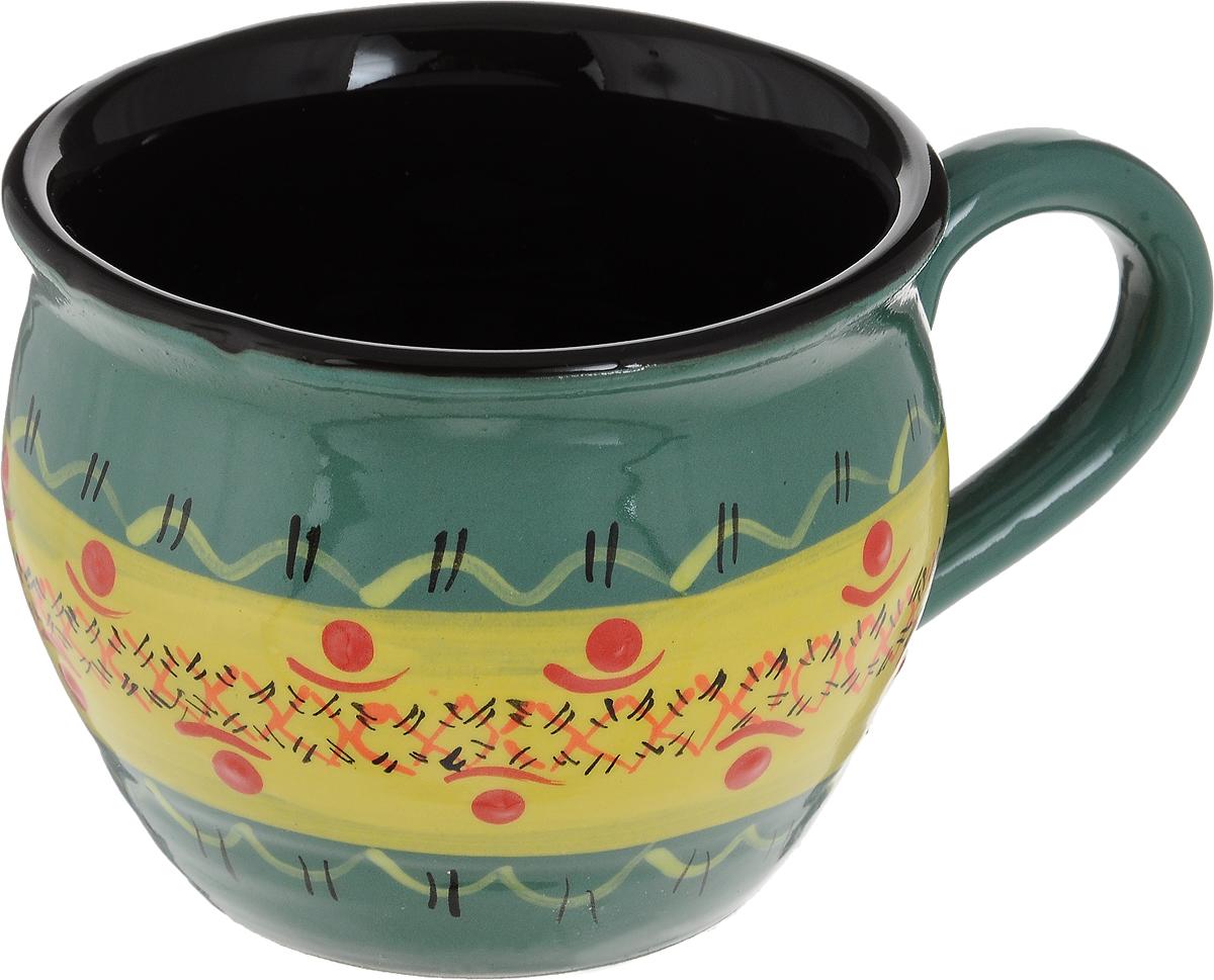 Чашка чайная Борисовская керамика Хэндмэйд. Полоска, цвет: зеленый, желтый, 300 млОБЧ00003214_зеленый, желтая полосаУдобная чашка Борисовская керамика Хэндмэйд предназначена для повседневного использования. Она выполнена из высококачественной керамики. Природные свойства этого материала позволяют долго сохранять температуру напитка, даже если вы пьете что-то холодное.
