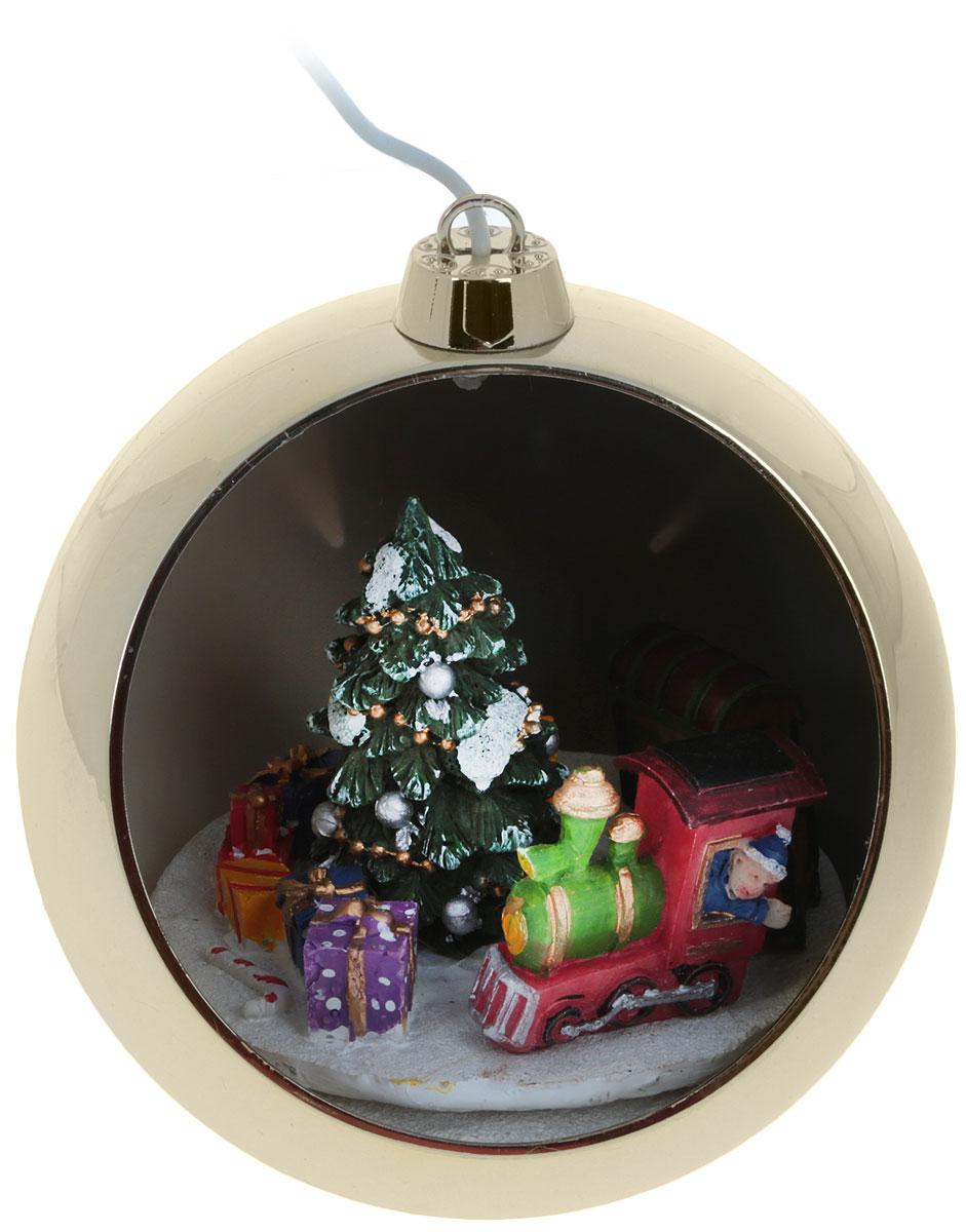 Шар новогодний B&H, с подсветкой и музыкой, цвет: золотой, мультиколор, диаметр 8 смBH0609Светодиодный шар B&H - идеальное решение для украшения новогодней елки или праздничного интерьера. Шар с новогодней композицией, подсветкой и музыкой, диаметр 8 см. Два режима работы позволяет использовать композицию со светом и музыкой или только со светом. Этот шар используется внутри помещений. Питание: батарейки 3 х АА (в комплект поставки не входят).