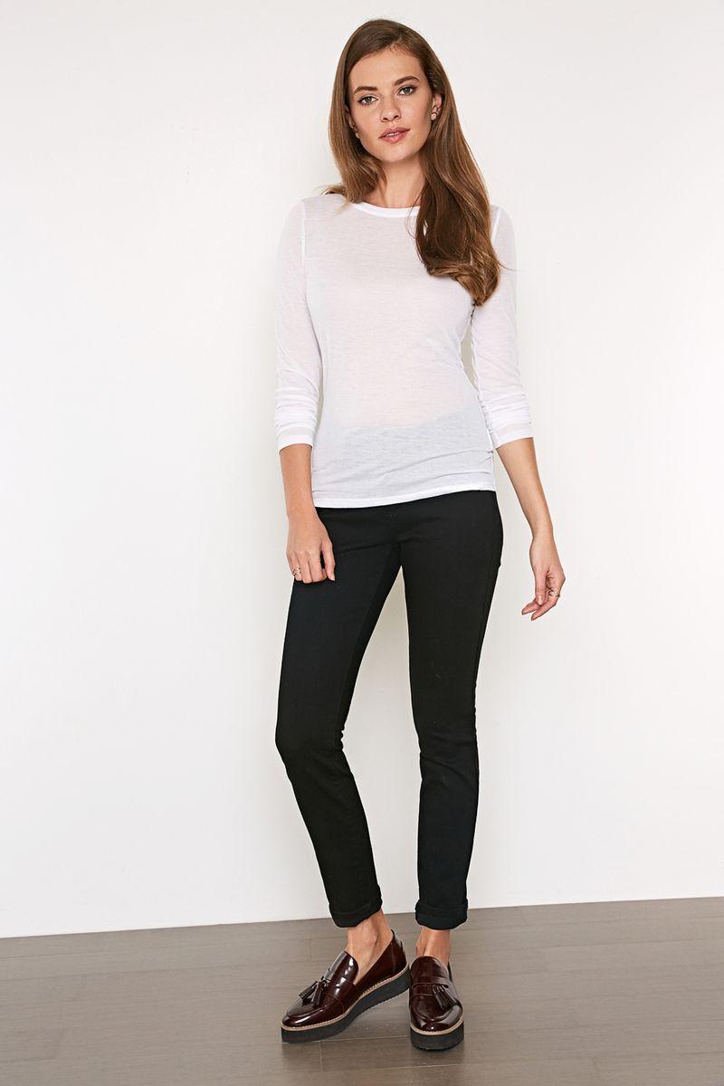 Брюки женские Concept Club Vaela, цвет: черный. 10200160265_100. Размер M (46)10200160265_100Облегающие брюки выполнены из эластичного джинсового твилла. Модель средней посадки, с пятью карманами и застежкой на молнию и пуговицу.